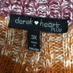 Derek Heart Sweaters - NWOT Derek Heart Striped Knit Pullover